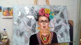 Cuadro Frida al óleo 100x70