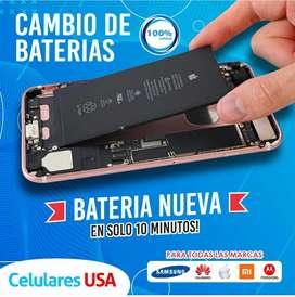 Cambio de batería iPhone Samsung Xiaomi servicio técnico todas las marcas