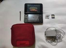 3DS XL Rojo con memoria de 128 GB y más de 60 juegos!