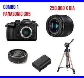 panasonic Gh5 sony a7III alquiler de equipos de video 4k