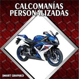 CALCOMANIAS PERSONALIZADAS DISEÑO MOTOS VEHICULOS PUBLICIDAD PALMIRA CALI SMART GRAPHICS