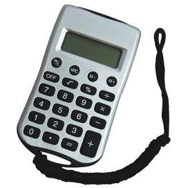 Calculadora De 8 dígitos Con Cordón Para Colgar