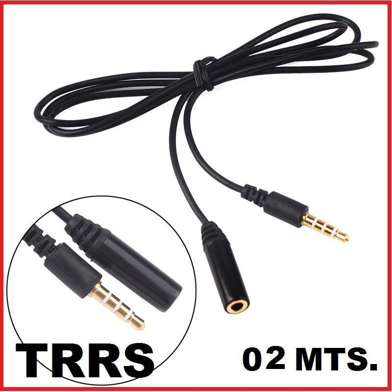 Cable Extension Trrs Microfono Audifonos 02 Mts Hembramacho 0