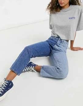 Jeans Boyfriend rígido