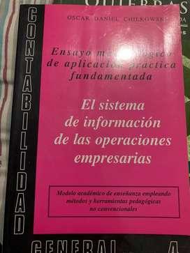El sistema de informacion de las operaciones empresarias ( Chilkowski)