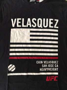 UFC Cain Velasquez San Jose CA World Heavyweight Champion, 100% original licencia oficial UFC Reebook, talle medium