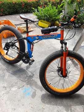 Bicicleta fat llanta 26x4.0 doble suspension