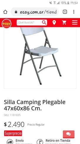 Sillas camping plegables