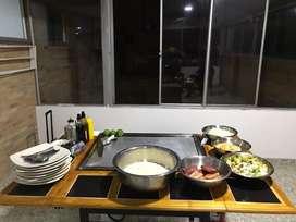 Teppanyaki para eventos en Bogotá y la sabana