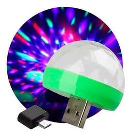 Mini Esfera P/ Celular Multicolor Rgb Usb Otg - La Plata