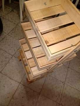 Fruteros y repisas artes zapateros y cajas de madera