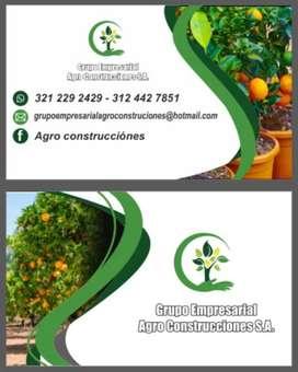 Agro construcciónes s.a les ofrece el servicio de construcción y paisajismo