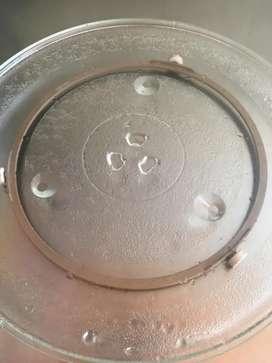 Base giratoria + bandeja de vidrio para microondas