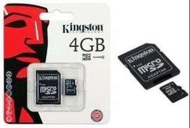 Memoria Micro Sd 4GB + Adaptador Almacenamiento