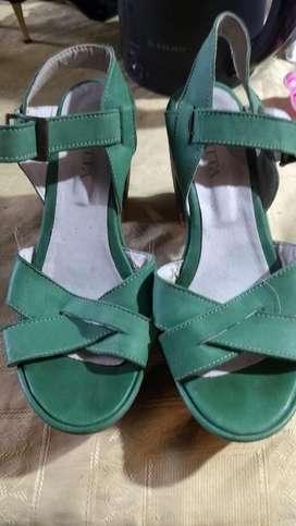 Sandalias verde