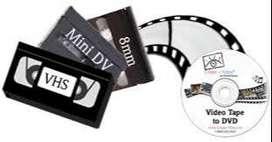 Conversión de cintas a DVD o memoria USB