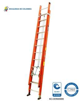 Escalera Extension Fibra 24 Pasos / 7.4 Mts 136 Kg