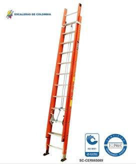 Escalera Extension Fibra 24 Pasos / 7.4 Mts 136 Kg