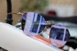gafas Rayban redondas Lente Espejo para mujer