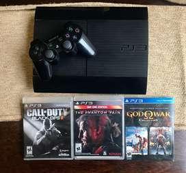 Sony PS3 12 gb + joystick + 3 juegos Perfecto estado