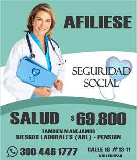 Afiliese a Seguridad Social (EPS, ARL, Pension)