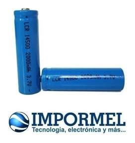 Pila Bateria Litio Modelo 3.7v Aa Luz Led