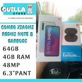 COMOBO XIAOMI 32GB NUEVO Y earbuds originales