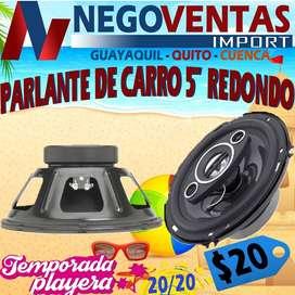 """PARLANTE DE CARRO 5"""" REDONDO"""