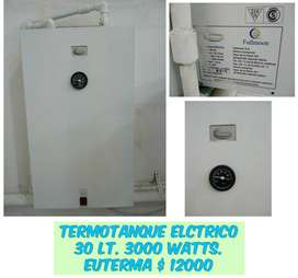 Termotanque electrico Euterma 30 Lt, 3000 Watts