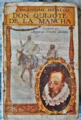 El Ingenioso Hidalgo Don Quijote Dela Mancha - Edicion 3er Centenario Sopena 1916