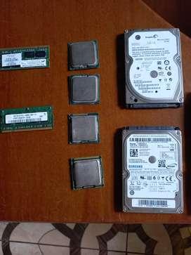 De venta disco duro de PC Y LAPTO, y procesadores. Hasta i3