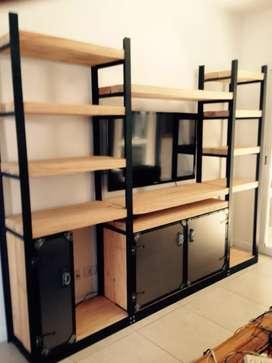 Muebles metal madera