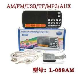 RADIO DIGITAL RECARGABLE CON AM/FM/USB/TF/MP3/AUX REF. L-088AM