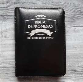 Biblia acolchonada con cierre libro de obsequio de promesas
