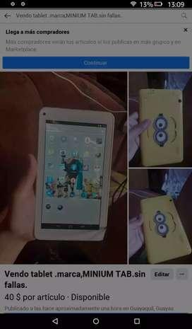 Vendo tablet en buen estado sin fallas.sólo wifi.
