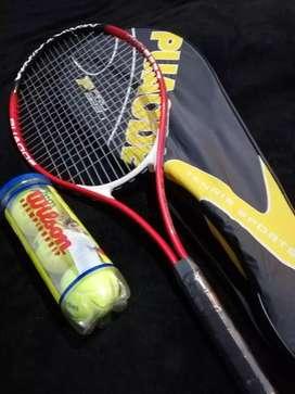 Raqueta de tenis PUAODE PRO 8237 Con 3 pelotas NUEVA