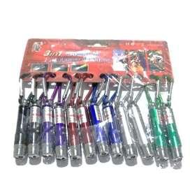 Llavero Linterna Uv, Led Blanco Y Laser Rojo 3 En 1 X 12 Und  delivery