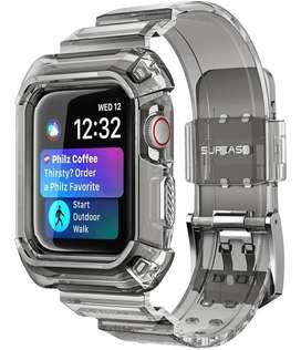 Correa & Case Sport Supcase Apple Watch Serie 4 5 6 Se 44mm BLACK FROST