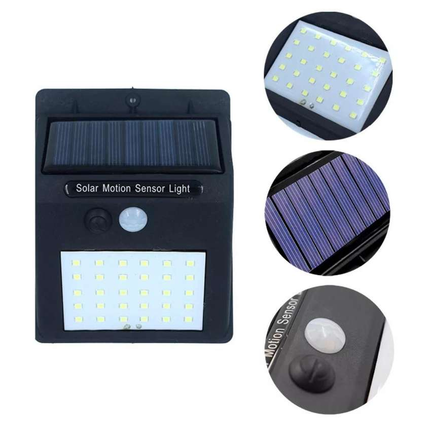 Lámpara Solar Recargable 30 Led Sensor 0