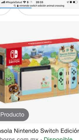 Vendo consola Nintendo switch animal crossing