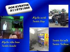 organizacion de eventos, alquiler video beam, alquiler sonido, karaoke bingo perifoneo, Bicivalla