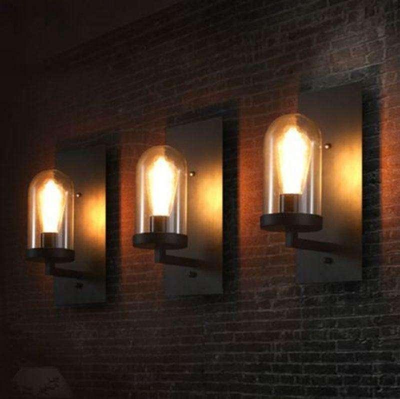 Lamparas Pared Vintage Bombillo Edison Loft Industrial 0