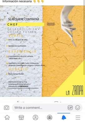 Chef para restaurante