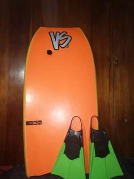 Bodyboard VS usado + funda para el body