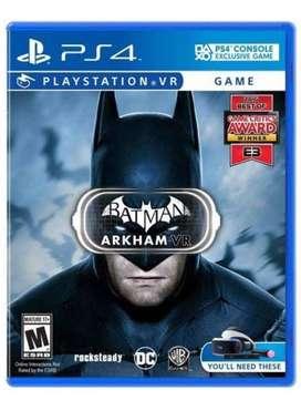 BATMAN ARKHAM VR PS4 JUEGO SELLADO ENTREGA INMEDIATA.