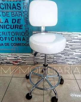 Silla Spa Blanca Manicure Pedicure con Control de Altura