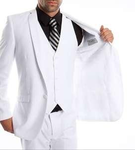 Alquiler de traje Slim Fit blanco para hombre