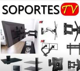 SOPORTE CON SU BASE De Tv Excualizable