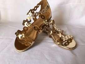 Sandalias doradas mujer nuevas