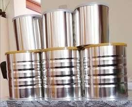 Envases de latón - latas vacias